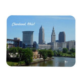 Imán céntrico de Cleveland, río de Ohio