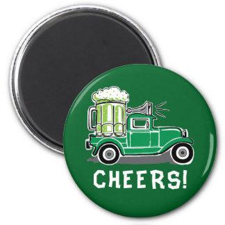 Imán Cerveza del verde del camión del vintage del día