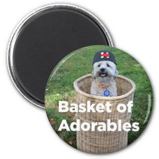 Imán Cesta de Adorables: Perros adorables para el mag