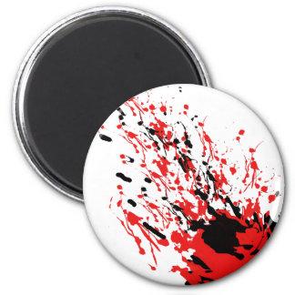 Imán Chapoteo abstracto y goteo rojos y negros