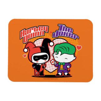 Iman Chibi Harley Quinn y corazones del comodín de