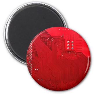 Imán circuito electrónico rojo board.JPG