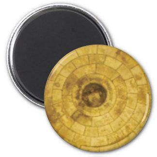 Imán círculos de piedra amarillos