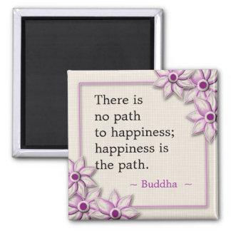 Imán Cita de la felicidad de Buda