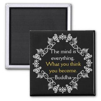 Imán Cita de motivación de Buda de los pensamientos