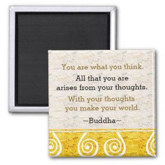 Imán Cita inspiradora de Buda del pensamiento