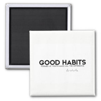 Imán CITAS: Aristóteles: Buenos hábitos