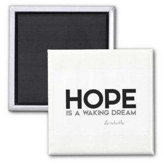 Imán CITAS: Aristóteles: Esperanza: despertar sueño
