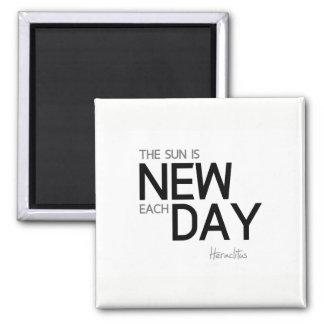Imán CITAS: Heraclitus: El sol es nuevo cada día