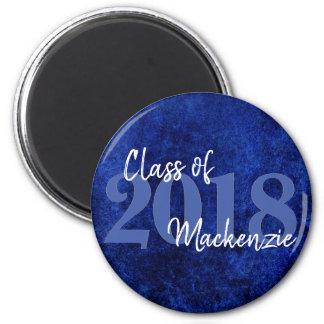 Imán Clase azul de la graduación el | del zafiro del