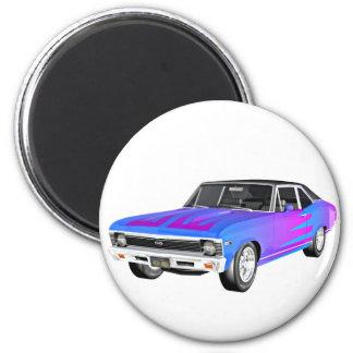 Imán Coche del músculo de 1968 en púrpura y azul