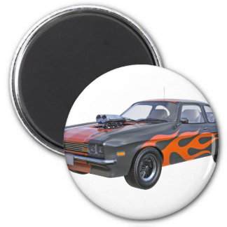 Imán coche del músculo de los años 70 en llamas