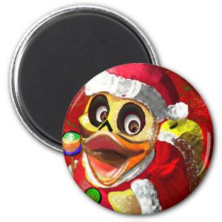 Imán Cocos Santa Ducky de goma