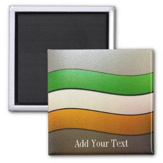 Imán Color-Cromo de la bandera de Irlanda de Shirley