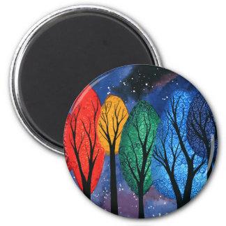 Imán Color de la noche - del arco iris cielo estrellado