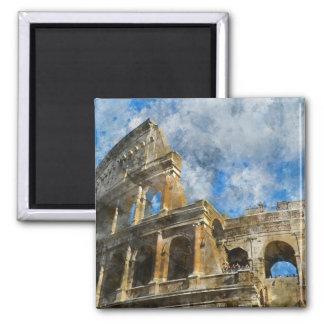 Imán Colosseum antiguo en Roma Italia