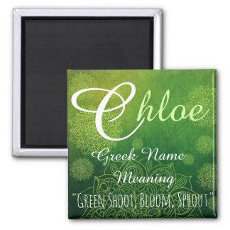 Imán conocido: Chloe, brote, floración