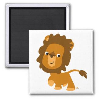 Imán contento del león del dibujo animado