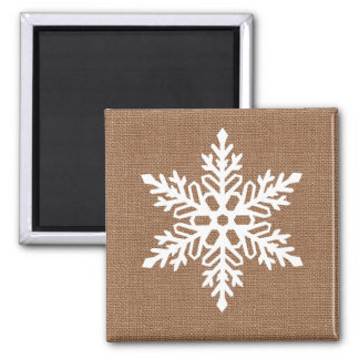 Imán Copo de nieve en navidad del estilo rural de la