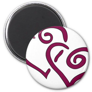 Imán Corazón doble marrón