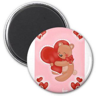 Imán Corazón que calienta Teddybear