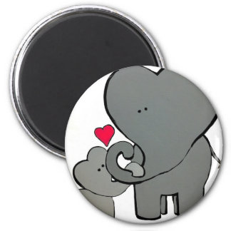 Imán Corazones del elefante - un amor inolvidable
