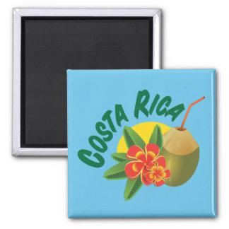 Imán Costa Rica con el hibisco y el coco