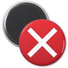 Imán Cruz Roja ningún símbolo incorrecto de X
