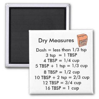 Imán CUADRADO de las medidas secas