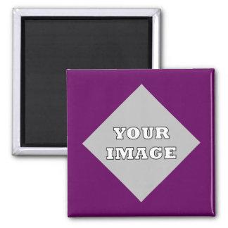 Imán cuadrado diagonal del marco de la foto