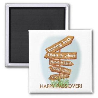 """Imán cuadrado """"muestras del Passover de ese tiempo"""