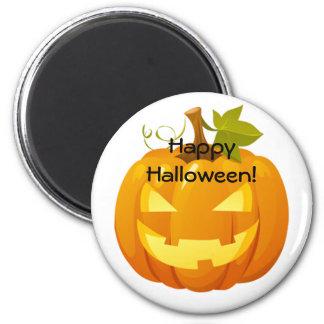 Imán de Halloween con una Jack-o-linterna