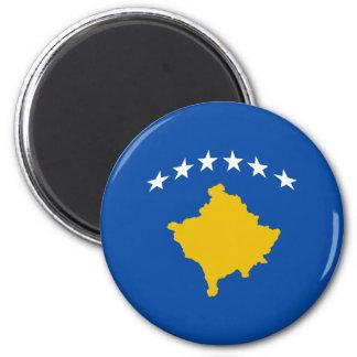 Imán de la bandera de Kosovo Fisheye