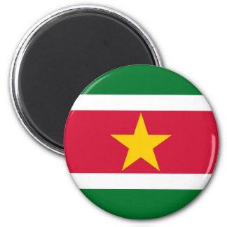 Imán de la bandera de Suriname