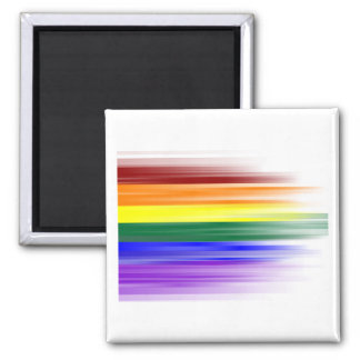 Imán de la bandera del arco iris (cuadrado)