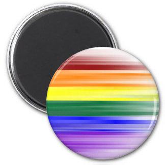 Imán de la bandera del arco iris (redondo)