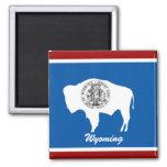 Imán de la bandera del estado de Wyoming