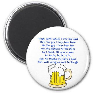 Imán de la canción de la cerveza