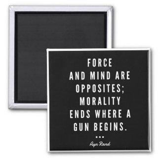 Imán de la cita del arma de Ayn Rand