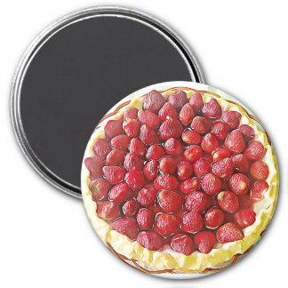 Imán de la comida de la empanada de la fresa