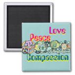 Imán de la compasión del amor de la paz