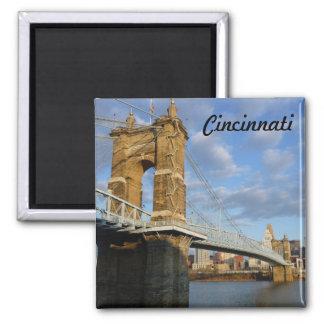 Imán de la foto de Cincinnati del puente de Juan R