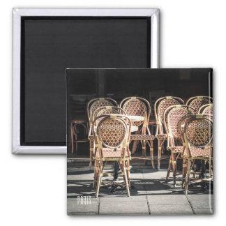 Imán de la foto del café de París