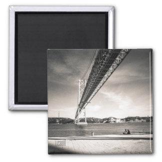 Imán de la foto del Tajo del río de Lisboa