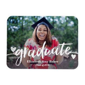 Imán de la invitación de la graduación de la foto