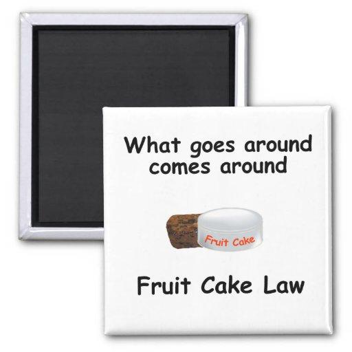 imán de la ley de la torta de la fruta