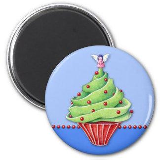 Imán de la magdalena blue2 del árbol de navidad