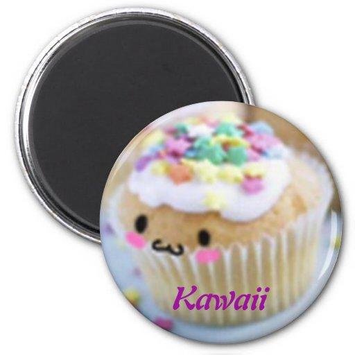 Imán de la magdalena de Kawaii