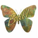 Imán de la mariposa del batik del otoño escultura fotográfica