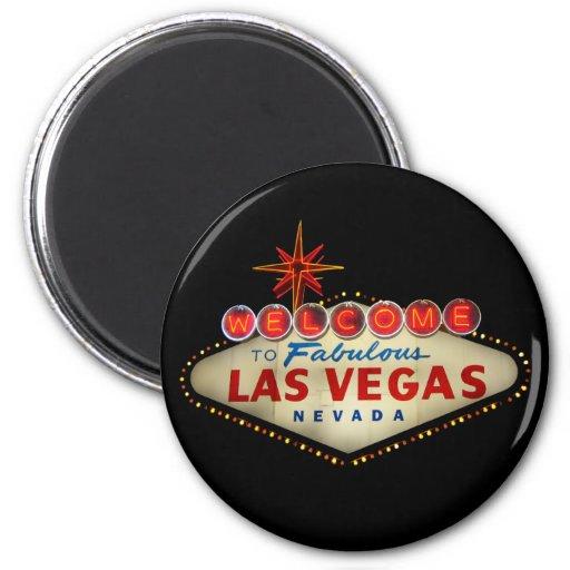 Imán de la muestra de Las Vegas